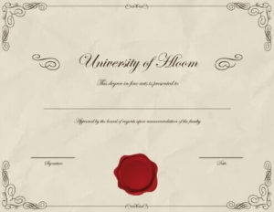 Fake Degree Certificate Template (7031 Downloads) – Free with regard to Best University Graduation Certificate Template