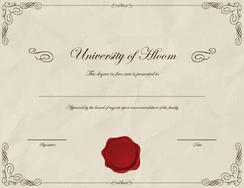 Fake Degree Certificate Template (7031 Downloads) - Free with regard to Best University Graduation Certificate Template