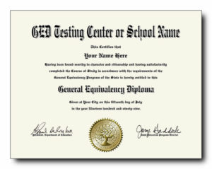 Fake Ged Diplomas And Transcripts Starting Under $40 Each! regarding Unique Ged Certificate Template