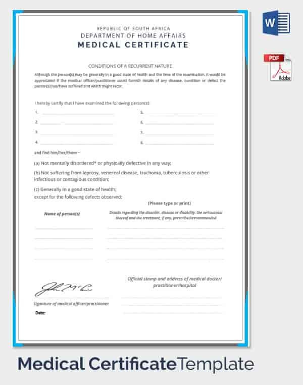 Fake Medical Certificate Template Download | Certificate regarding Fake Medical Certificate Template Download
