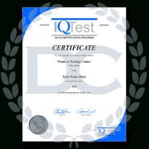 Fake Mensa Certificate inside Quality Iq Certificate Template