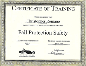 Fall Protection Certification Template (1) – Templates within Fall Protection Certification Template