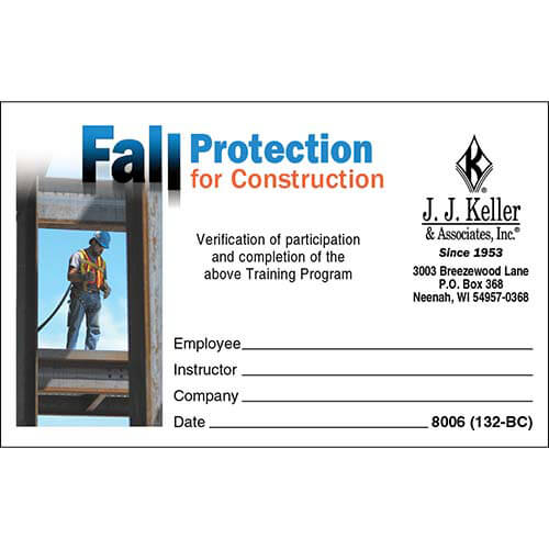 Fall Protection Certification Template (7) | Profe for Best Fall Protection Certification Template