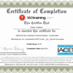 Fall Protection Certification Template (8) | Professional With Fall Protection Certification Template
