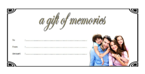 Family Photography Gift Certificate Template Free pertaining to Best Baby Shower Gift Certificate Template Free 7 Ideas
