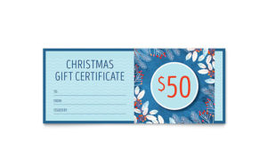 Family Portrait Gift Certificate Template Design throughout Gift Certificate Template Indesign