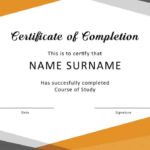 Fantastic Certificate Of Completion Templates Word In New Training Completion Certificate Template 10 Ideas