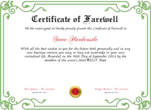 Farewell Certificate Template | Certificate Templates, Best within Quality Farewell Certificate Template