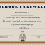 Farewell Party Invitation Template: 23 Custom Party Regarding Quality Farewell Certificate Template