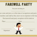 Farewell Party Invitation Template: 23 Custom Party Throughout Quality Farewell Certificate Template
