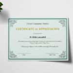 Felicitation Certificate Template (7) – Templates Example Inside Felicitation Certificate Template