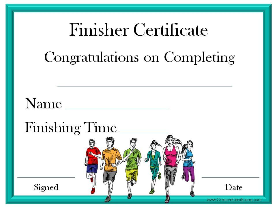Finisher Certificate | Certificate Templates, Award within Unique Finisher Certificate Templates