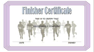 Finisher Certificate Template Free 5 | Certificate Templates in Finisher Certificate Template