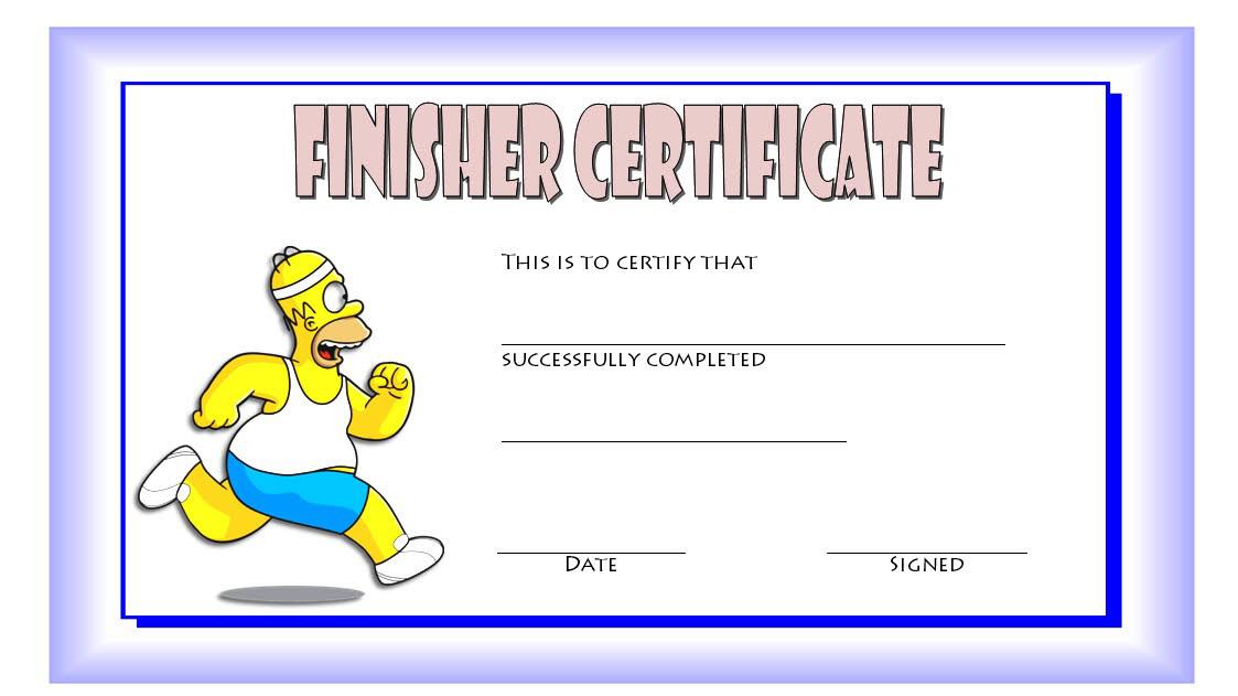Finisher Certificate Template Free 6 | Certificate Templates within Unique Finisher Certificate Templates