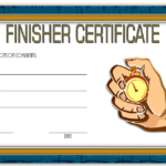 Finisher Certificate Template Free 7 In 2020   Certificate with regard to Unique Finisher Certificate Template 7 Completion Ideas