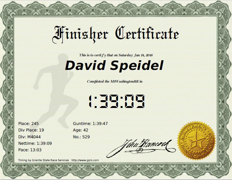 Finisher Certificates | Granite State Race Services for Quality Finisher Certificate Template