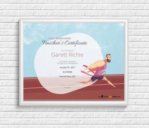 Finisher'S Certificate Award Template | Certifreecates regarding Unique Finisher Certificate Templates
