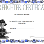 Fire Department Certificate Template Free 2 | Certificate With Firefighter Training Certificate Template
