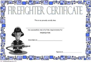Fire Department Certificate Template Free 2 | Certificate with Fresh Firefighter Certificate Template Ideas