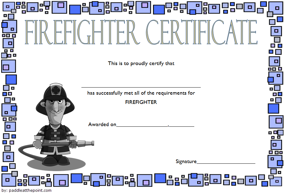 Fire Department Certificate Template Free 2 | Certificate with Fresh Firefighter Certificate Template Ideas