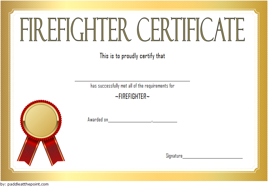 Fire Department Certificate Template Free 3 | Certificate pertaining to Unique Firefighter Certificate Template