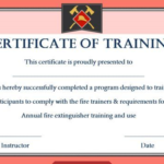 Fire Extinguisher Certificate Template (1) - Templates regarding Fire Extinguisher Training Certificate Template Free