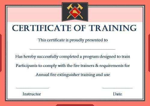 Fire Extinguisher Certificate Template (1) - Templates within Fire Extinguisher Training Certificate Template