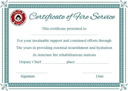 Fire Extinguisher Certificate Template (2) - Templates with Fresh Fire Extinguisher Training Certificate Template Free