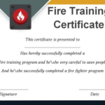 Fire Extinguisher Certificate Template (3) – Templates Inside Unique Fire Extinguisher Training Certificate