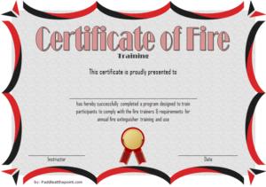Fire Extinguisher Certificate Template (3) – Templates pertaining to Fire Extinguisher Training Certificate Template