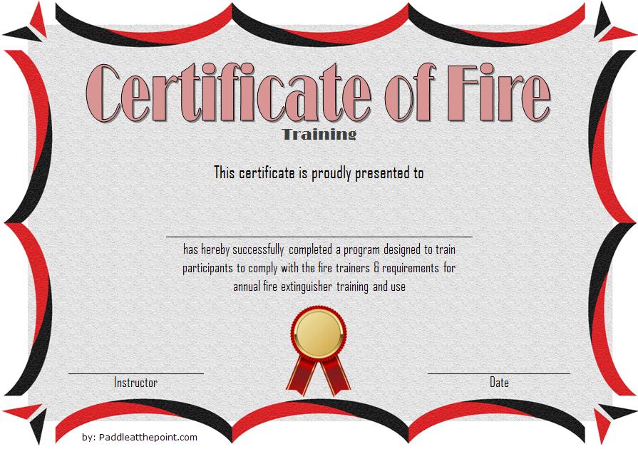 Fire Extinguisher Certificate Template (3) - Templates pertaining to Fire Extinguisher Training Certificate Template