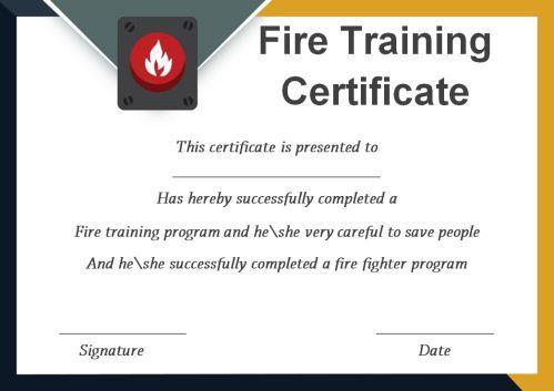 Fire Extinguisher Certificate Template (3) - Templates regarding Quality Fire Extinguisher Training Certificate Template