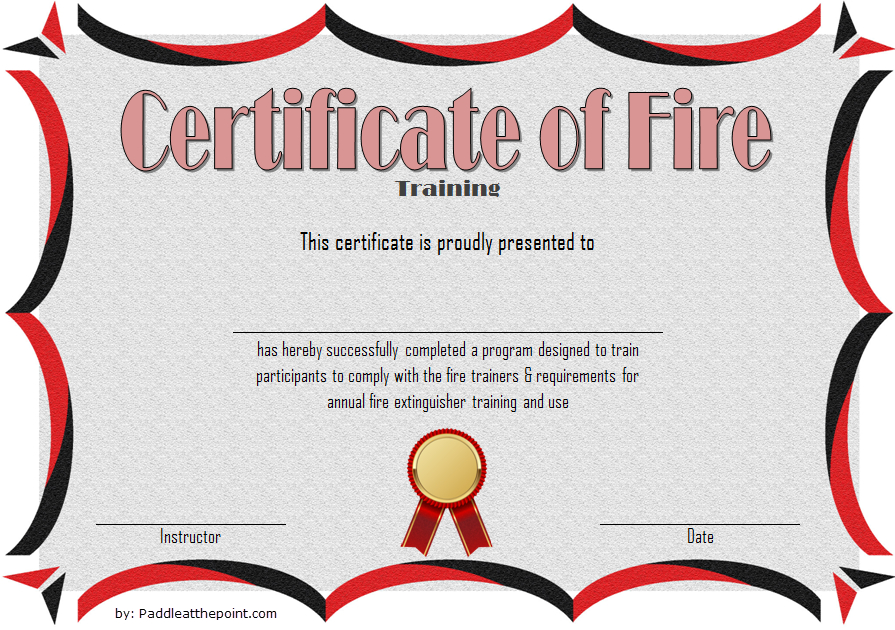 Fire Extinguisher Certificate Template (3) - Templates with regard to Fire Extinguisher Training Certificate Template Free