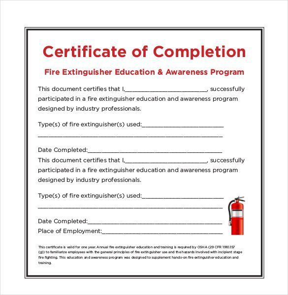 Fire Extinguisher Certificate Template | Certificate regarding Quality Physical Fitness Certificate Template 7 Ideas