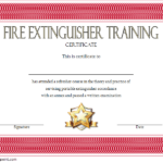Fire Extinguisher Certificate Template | Fire Extinguisher Throughout Fire Extinguisher Training Certificate
