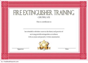 Fire Extinguisher Certificate Template | Fire Extinguisher throughout Fire Extinguisher Training Certificate