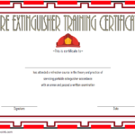 Fire Extinguisher Training Certificate Template 03 | Fire For Unique Fire Extinguisher Training Certificate