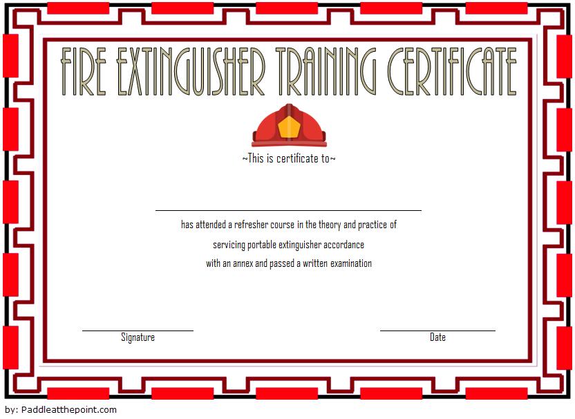 Fire Extinguisher Training Certificate Template 03 | Fire for Unique Fire Extinguisher Training Certificate