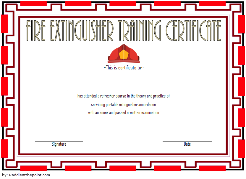 Fire Extinguisher Training Certificate Template 03   Fire regarding Fire Extinguisher Training Certificate Template Free