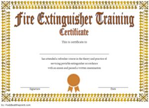 Fire Extinguisher Training Certificate Template Word Free 2 inside Fresh Fire Extinguisher Training Certificate Template Free