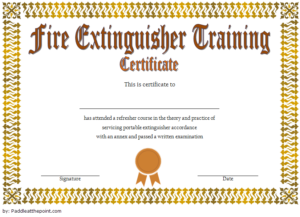 Fire Extinguisher Training Certificate Template Word Free 2 regarding Fire Extinguisher Certificate Template