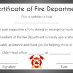 Fire Safety Certificate: 10+ Safety Certificate Templates For Fresh Firefighter Certificate Template Ideas