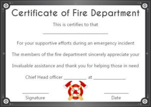 Fire Safety Certificate: 10+ Safety Certificate Templates inside Unique Firefighter Certificate Template