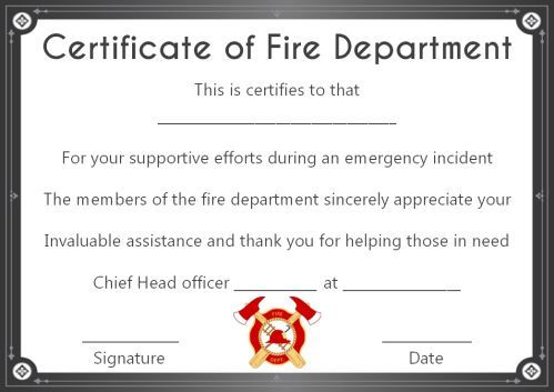 Fire Safety Certificate: 10+ Safety Certificate Templates within Fire Extinguisher Certificate Template