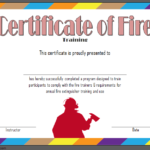 Fire Safety Training Certificate Template Free 1 | Fire Intended For Fire Extinguisher Training Certificate Template Free