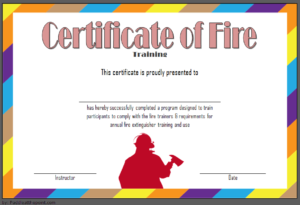 Fire Safety Training Certificate Template Free 1   Fire with Quality Fire Extinguisher Certificate Template
