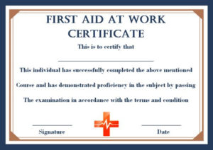 First Aid Certificate Archives – Page 2 Of 2 – Template Sumo With Regard To Best First Aid Certificate Template Free