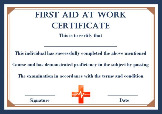 First Aid Certificate Archives - Page 2 Of 2 - Template Sumo with regard to Best First Aid Certificate Template Free
