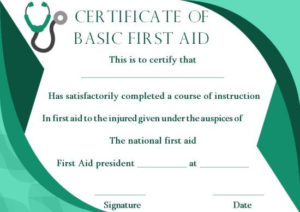 First Aid Certificate Template: 15 Free Examples And Sample For Best First Aid Certificate Template Free