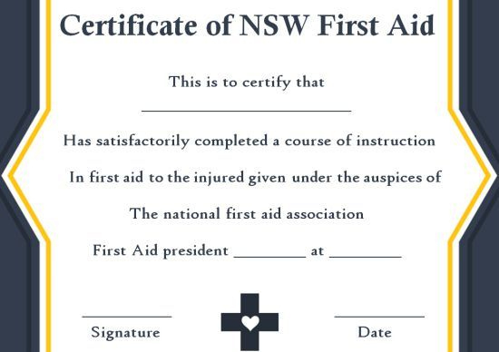 First Aid Certificate Template: 15 Free Examples And Sample Throughout Best First Aid Certificate Template Free